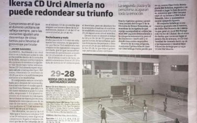 El Ideal hace eco del triunfo del equipo Ikersa CD Urci Almería